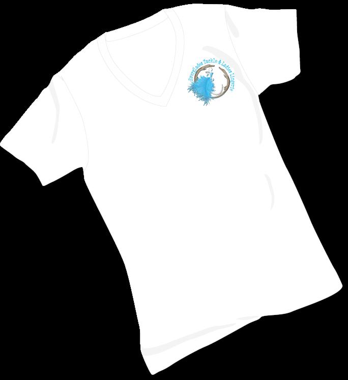 White Short Sleeve Logo